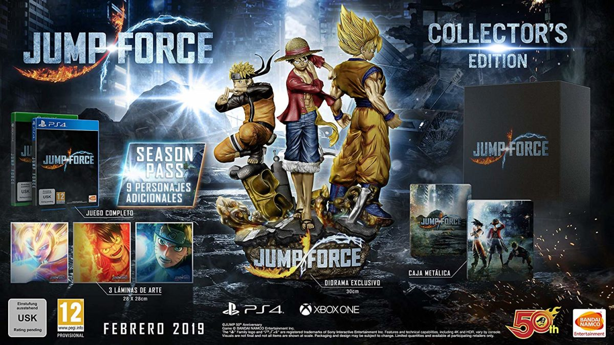 Abiertas las Reservas de Jump Force: Collector´s Edition