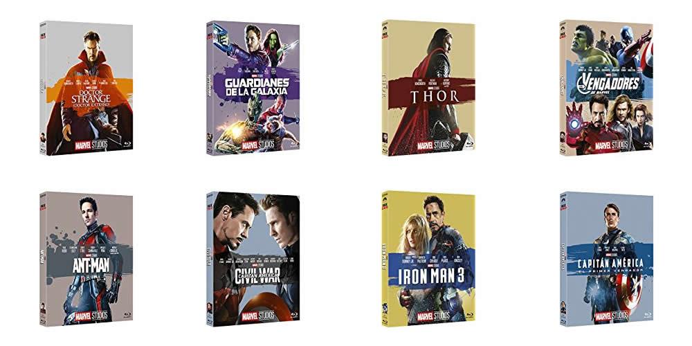 Los Blu-Ray del Universo Marvel en Oferta